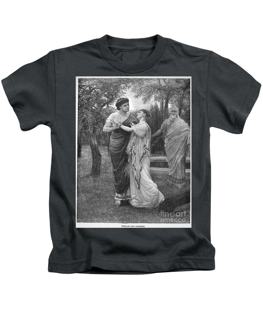 16th Century Kids T-Shirt featuring the photograph Troilus And Cressida by Granger
