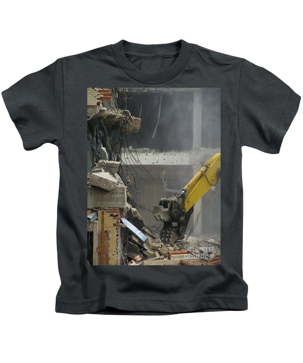 Demolish Kids T-Shirt featuring the photograph Tyrannosaurus Wrecks by Joe Jake Pratt