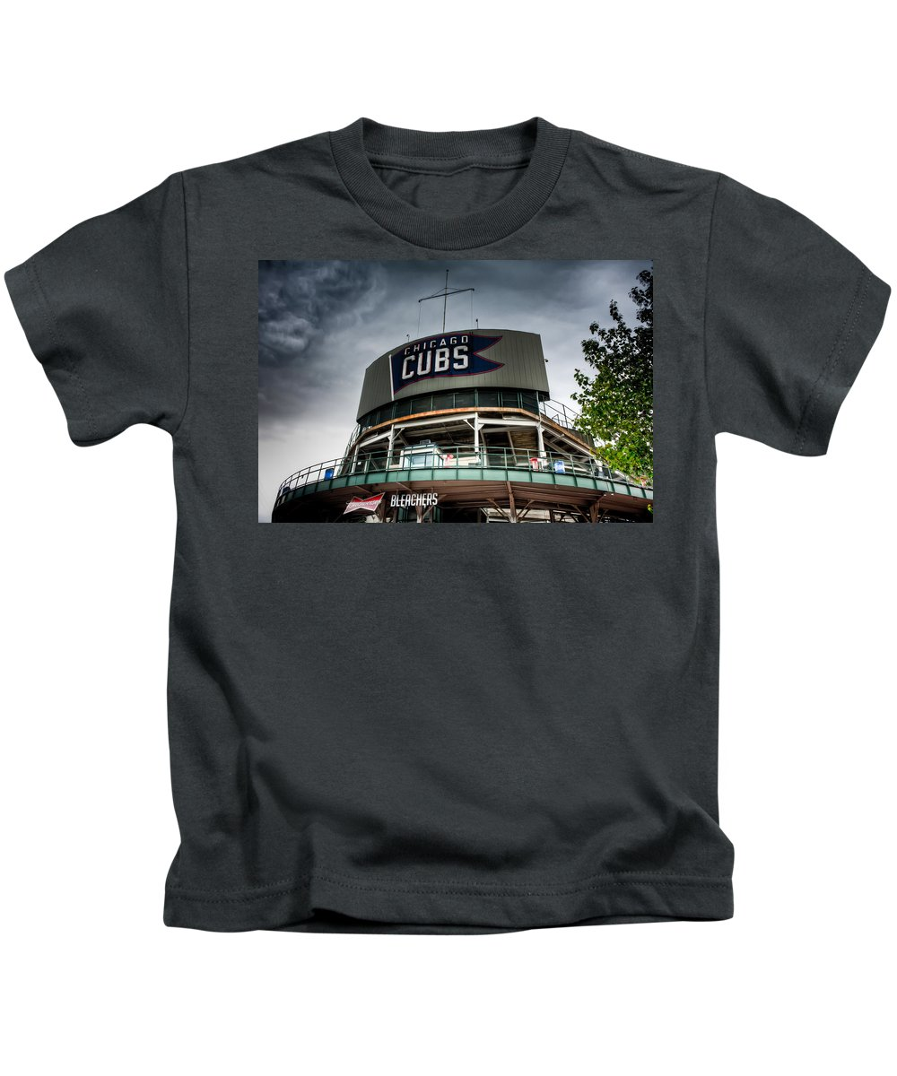 Chicago Kids T-Shirt featuring the photograph Wrigley Field Bleachers by Anthony Doudt