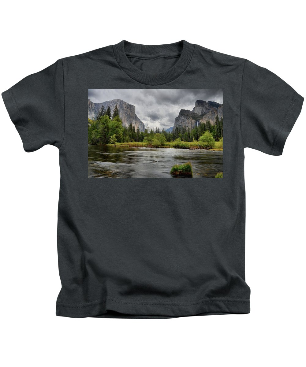 Yosemite Kids T-Shirt featuring the photograph Yosemite's Valley View by Lynn Bauer