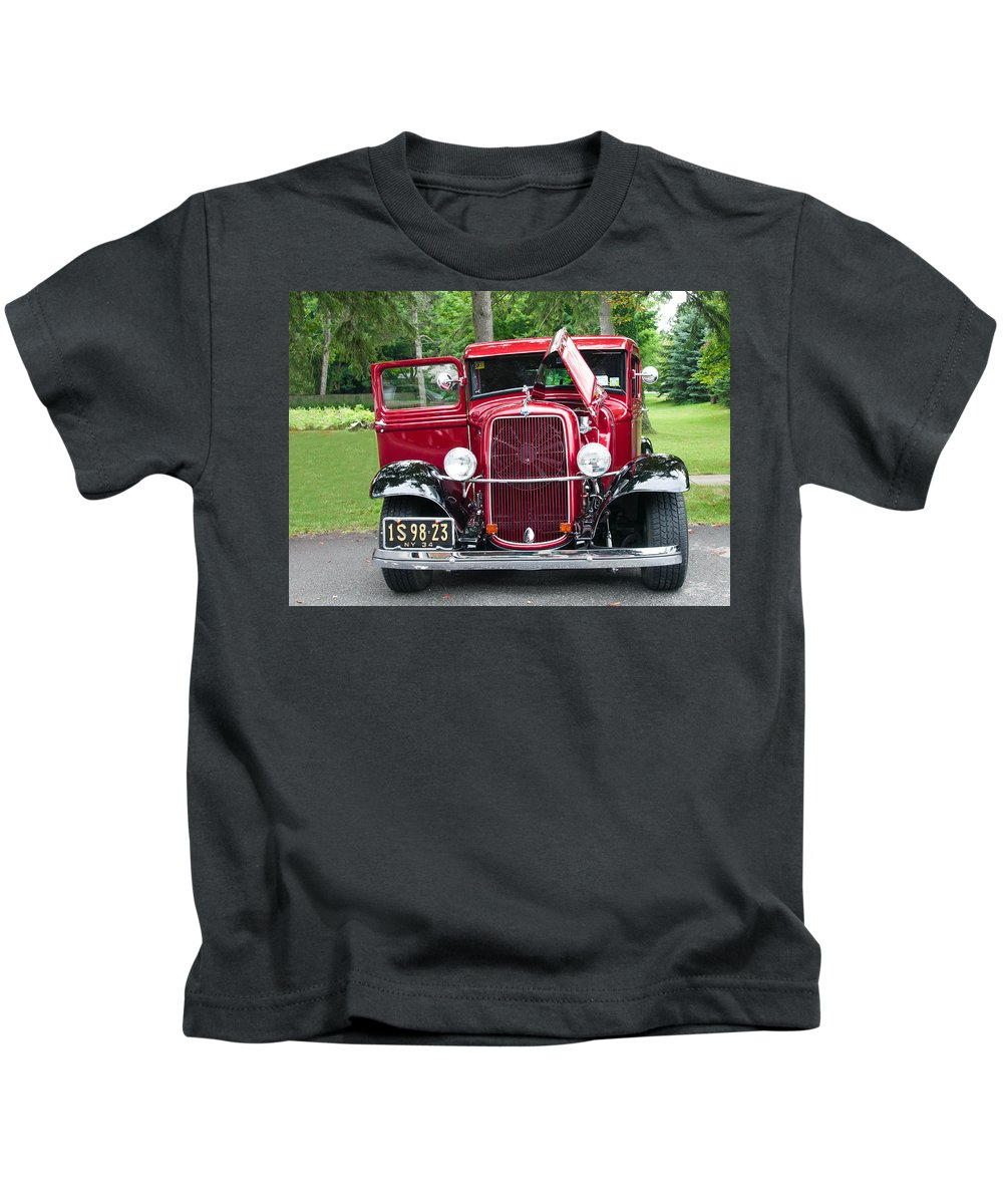 1934 Ford Kids T-Shirt featuring the photograph 1934 Ford by Guy Whiteley
