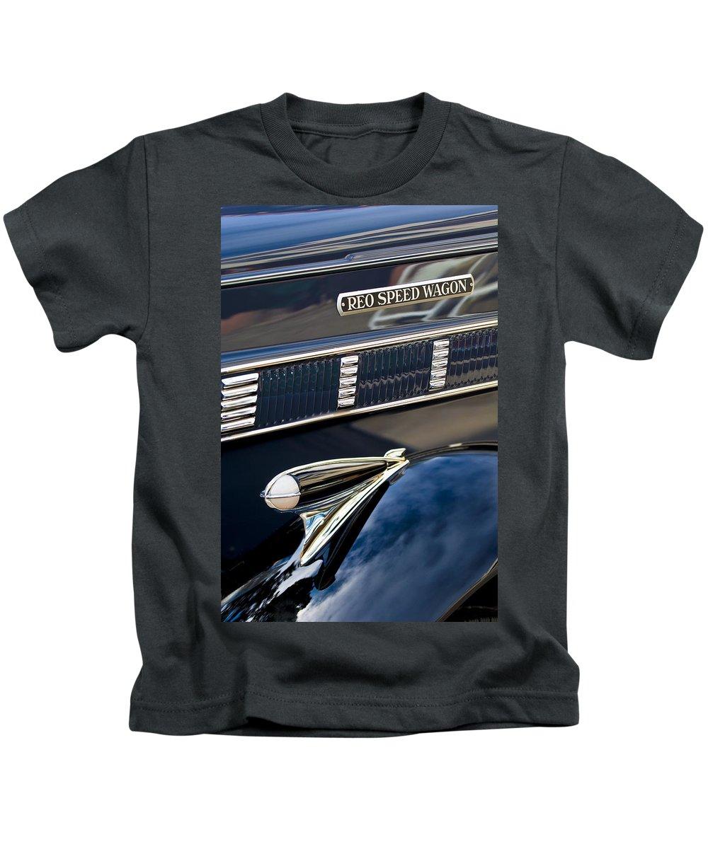 1935 Reo Speed Wagon 6ap Pickup Kids T-Shirt featuring the photograph 1935 Reo Speed Wagon 6ap Pickup by Jill Reger