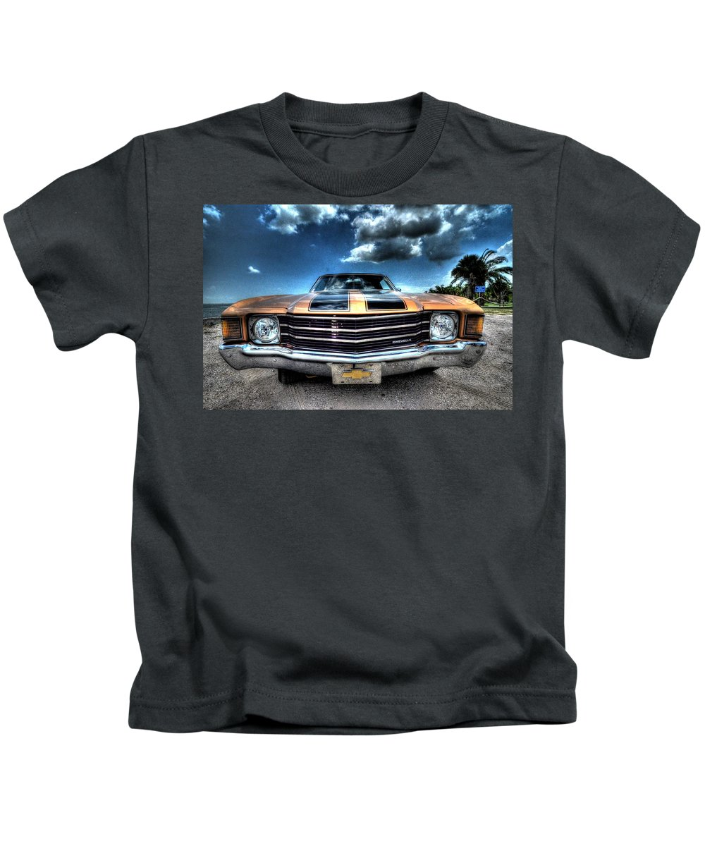 1972 Kids T-Shirt featuring the photograph 1972 Chevelle by David Morefield