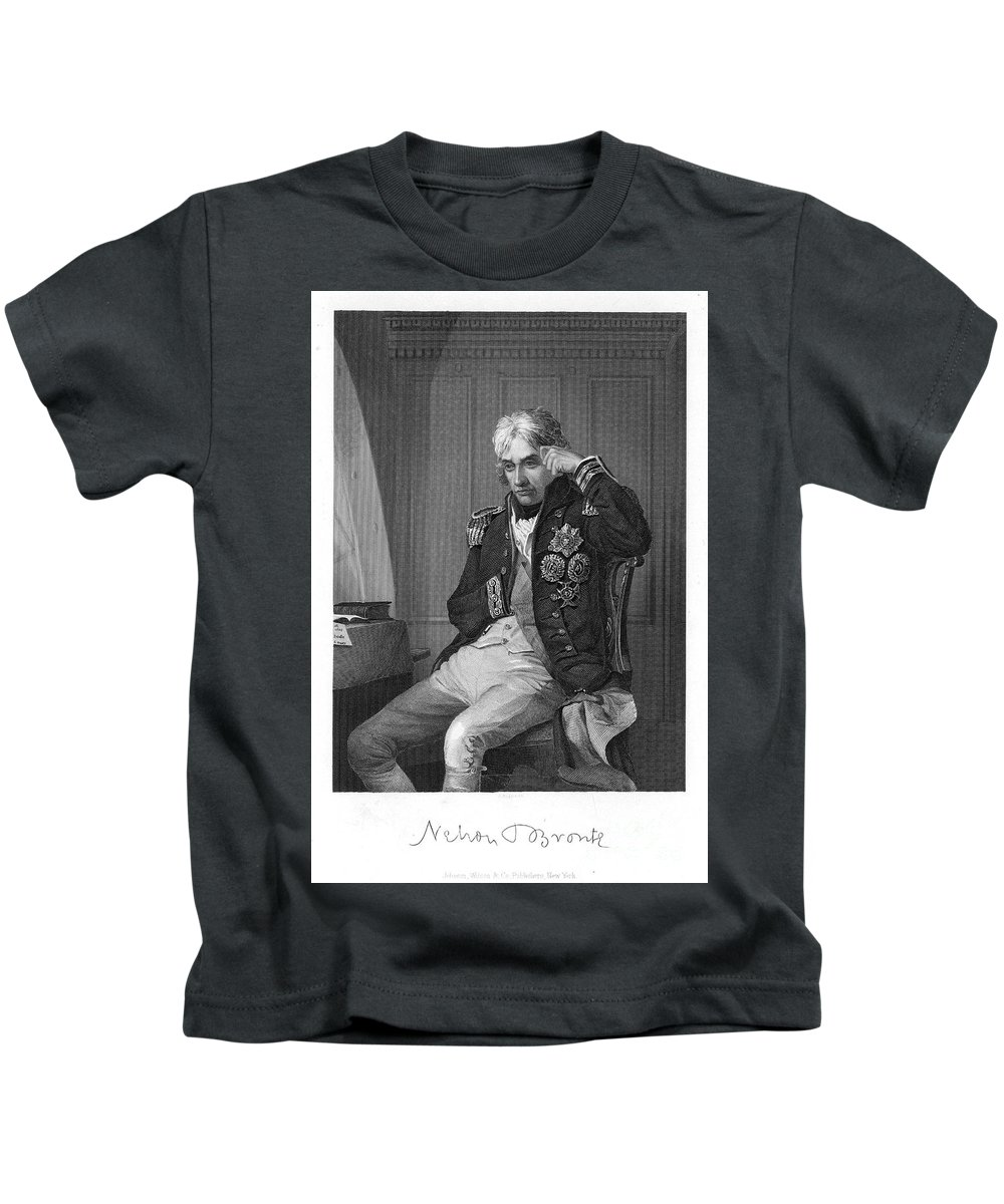 19th Century Kids T-Shirt featuring the photograph Horatio Nelson (1758-1805) by Granger
