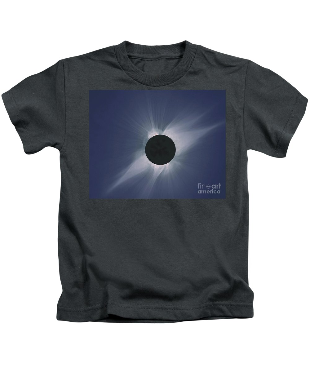 Solar Eclipse Kids T-Shirt featuring the photograph Solar Eclipse by Nasa