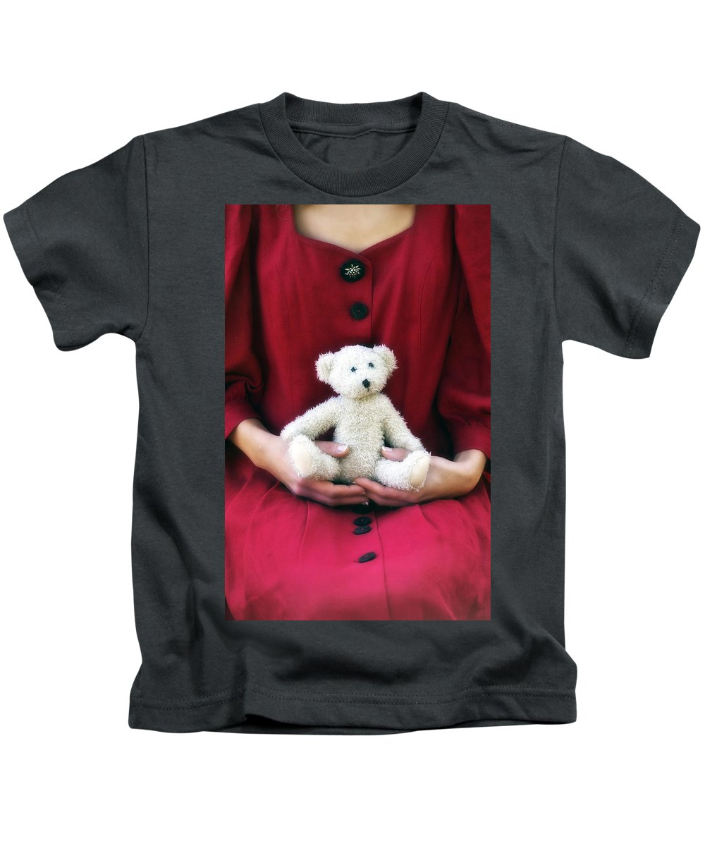 Woman Kids T-Shirt featuring the photograph Teddy Bear by Joana Kruse