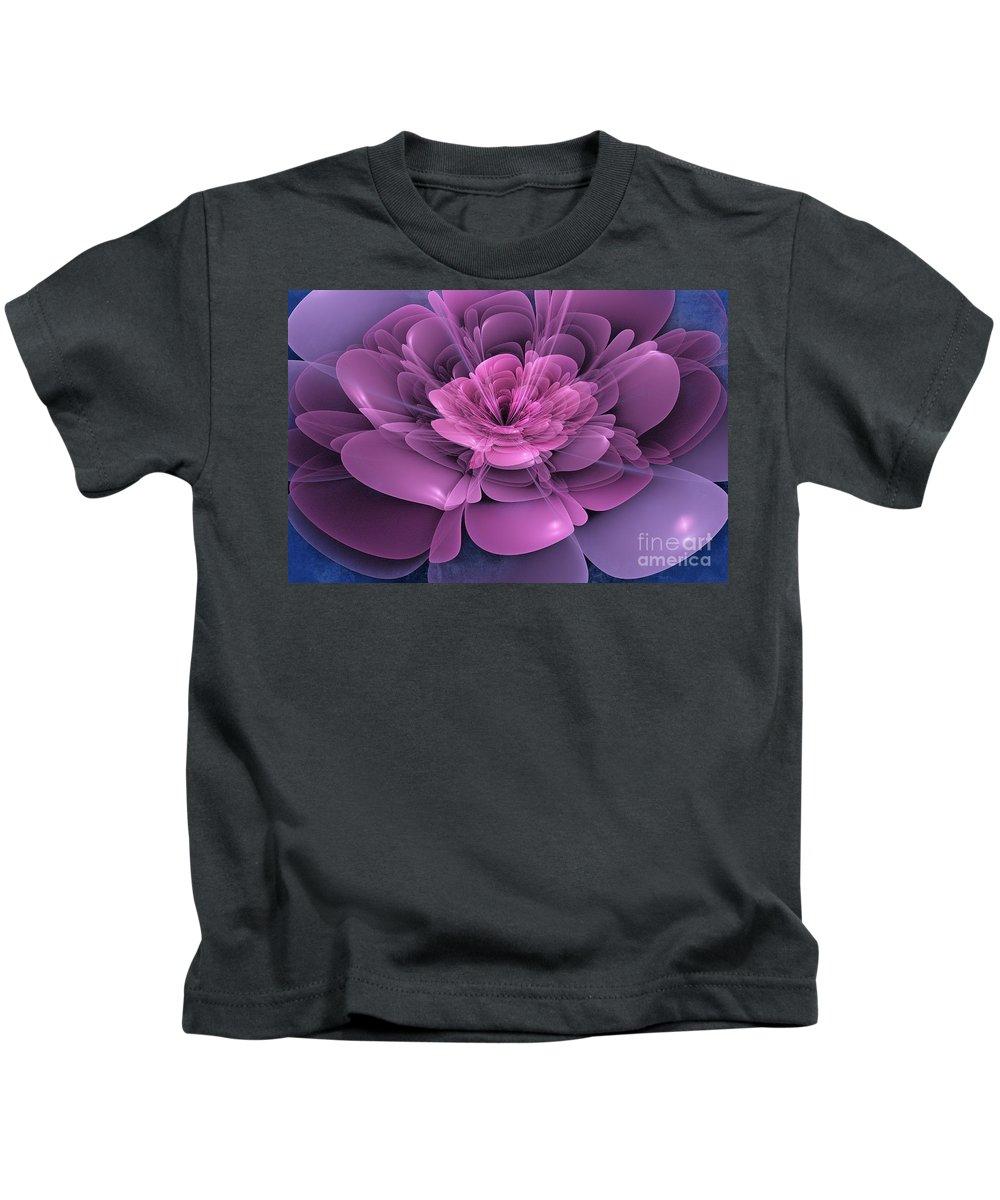 Flower Kids T-Shirt featuring the digital art 3d Flower by John Edwards