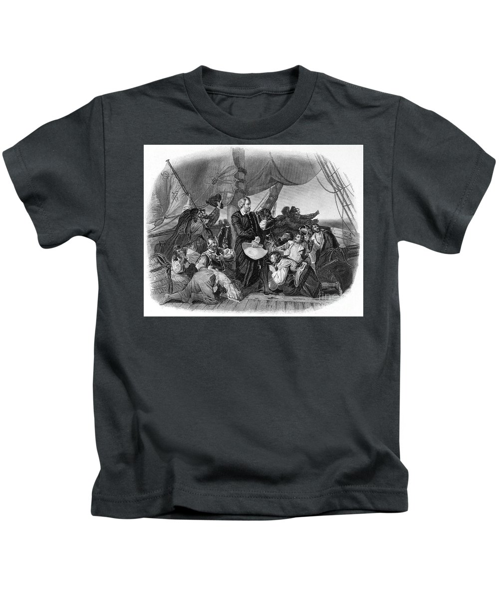 1492 Kids T-Shirt featuring the photograph Christopher Columbus by Granger