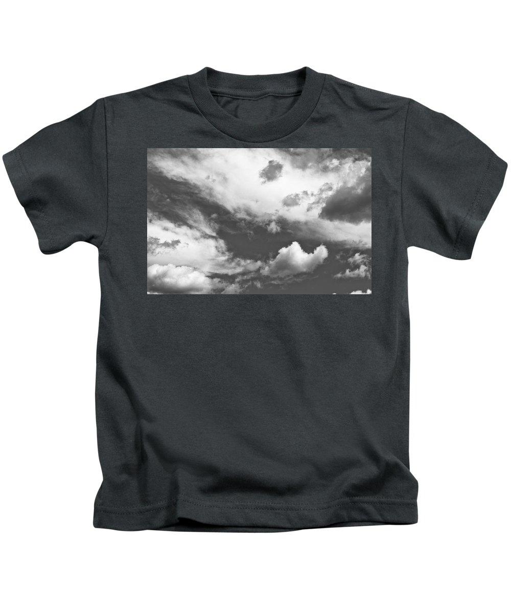 Skies Kids T-Shirt featuring the photograph English Summer Sky by David Pyatt