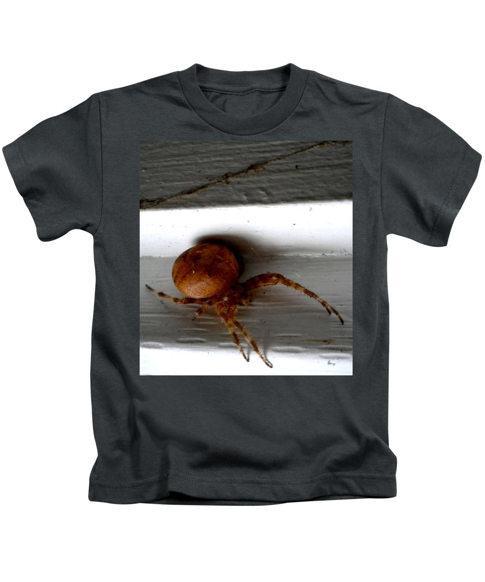 Spider Kids T-Shirt featuring the painting 8 Legged Fatso by Renate Nadi Wesley