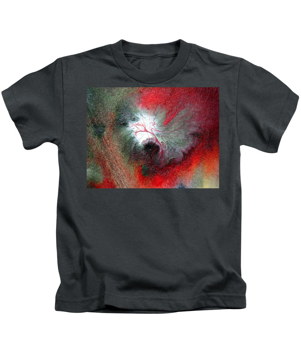 Water Kids T-Shirt featuring the painting Colorful Water Color Painting by Sumit Mehndiratta