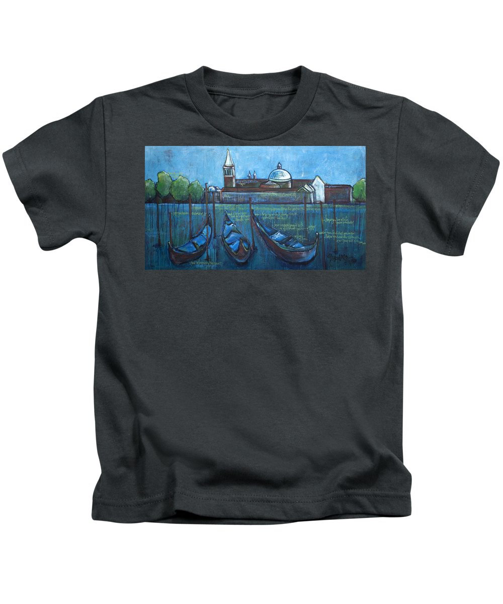 Venice Kids T-Shirt featuring the painting A View Of You by Laurie Maves ART