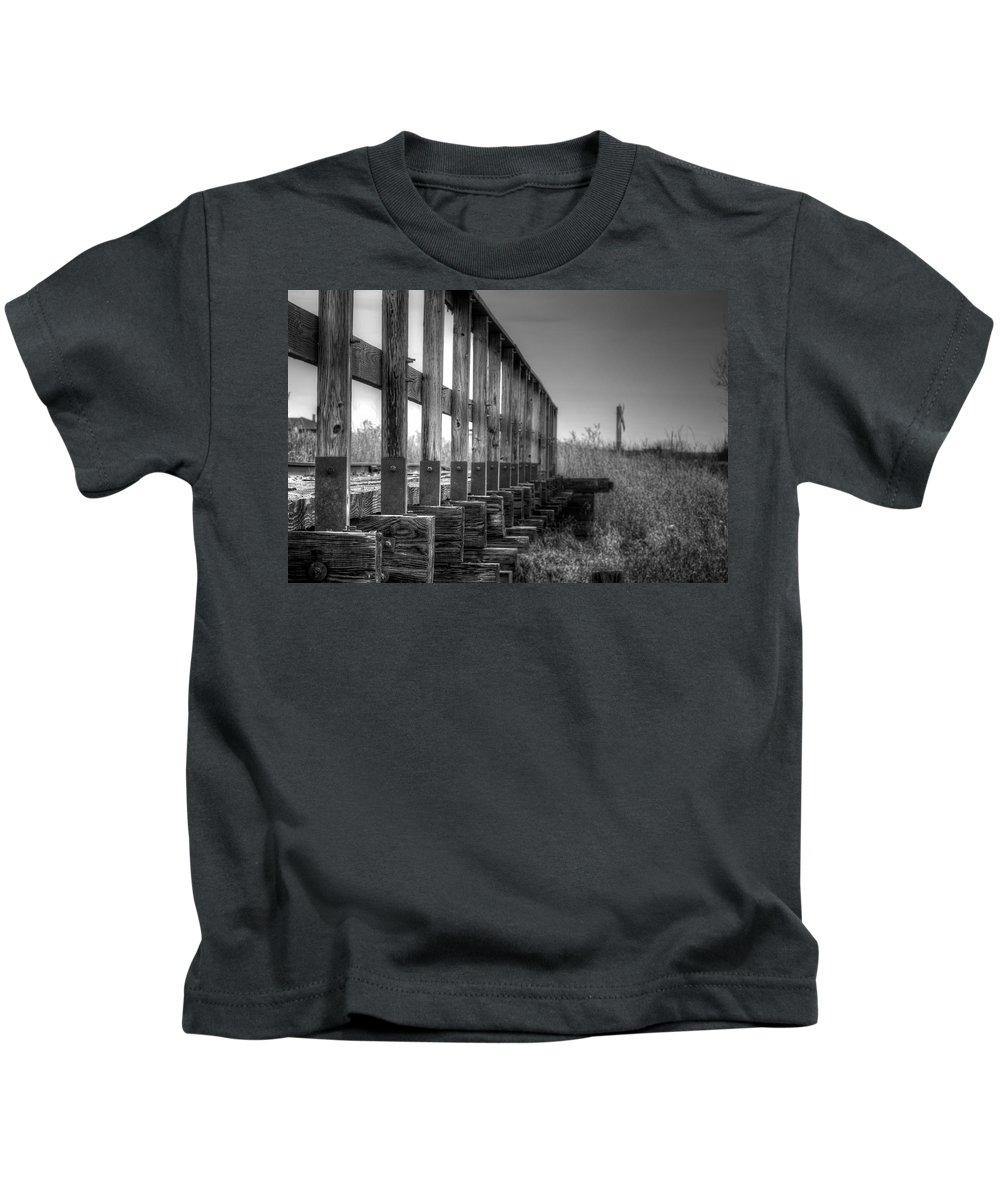 Lisa Knechtel Kids T-Shirt featuring the photograph Abandoned Railway by Lisa Knechtel