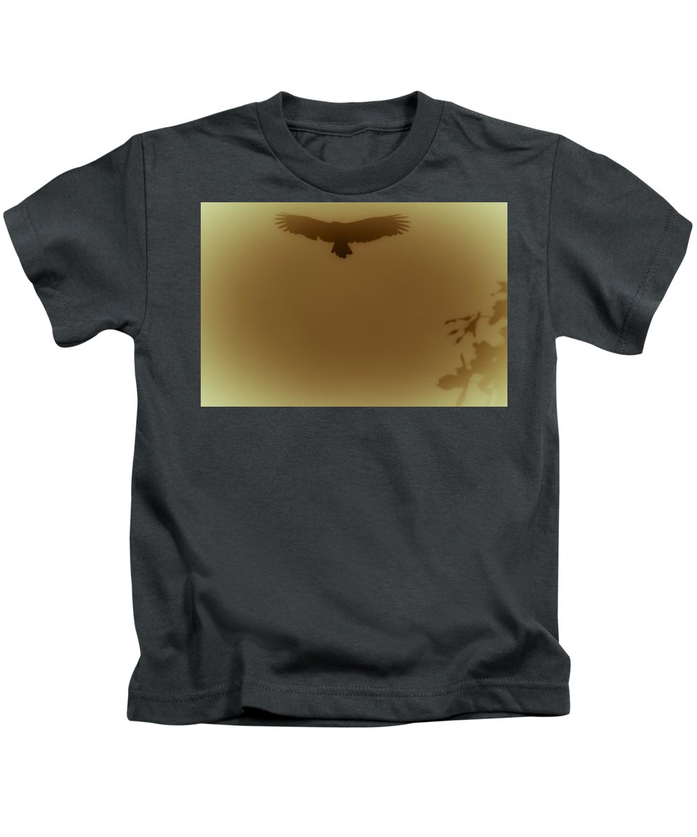 Vulture Kids T-Shirt featuring the photograph Above the Lake by Kim Henderson
