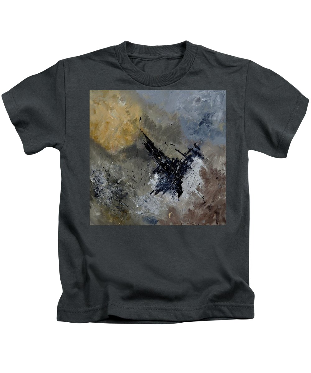 Abstract Kids T-Shirt featuring the painting Abstract 88111102 by Pol Ledent