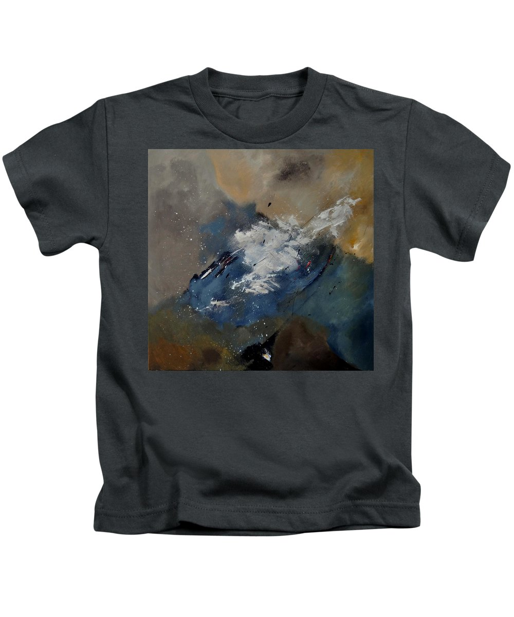 Abstract Kids T-Shirt featuring the painting Abstract 8821206 by Pol Ledent