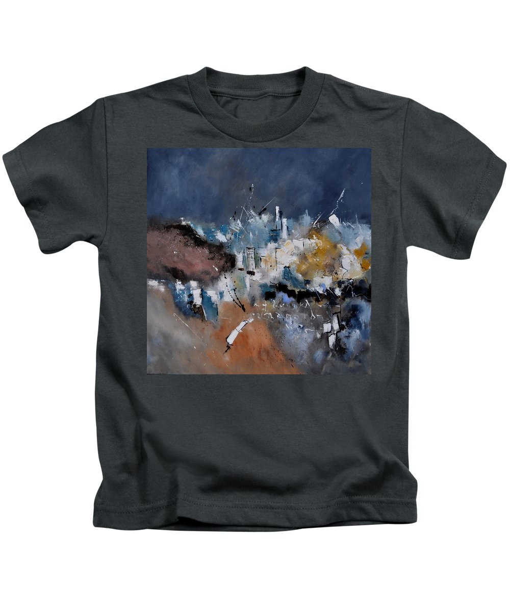 Abstract Kids T-Shirt featuring the painting Abstract 8821602 by Pol Ledent