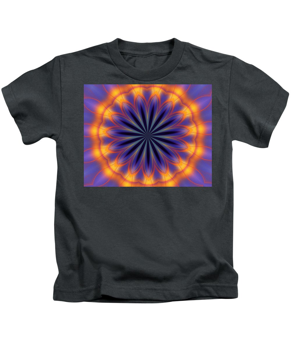Abstract Kids T-Shirt featuring the digital art Abstract Kaleidoscope by David Lane