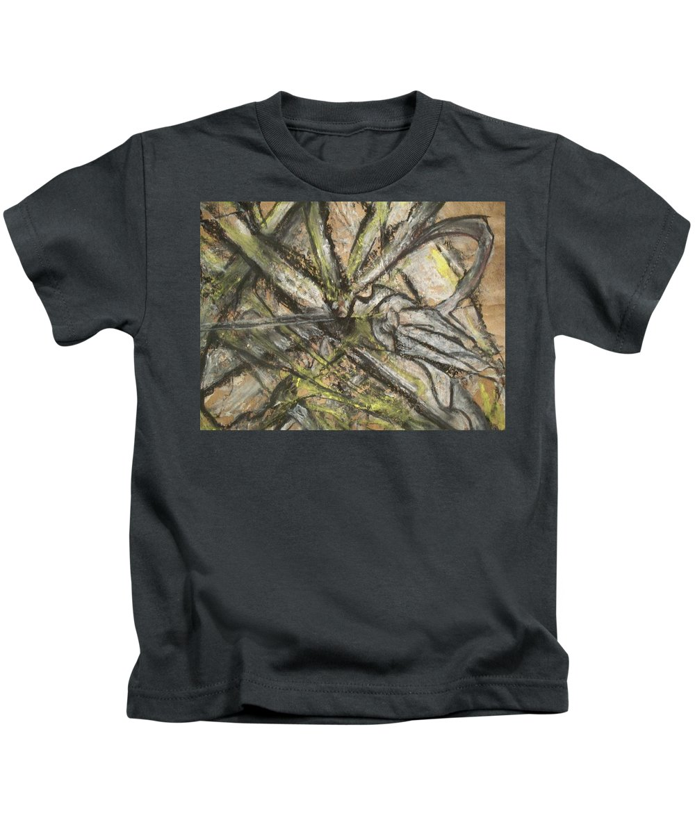 Bugs Kids T-Shirt featuring the mixed media Advance by Heather Joi