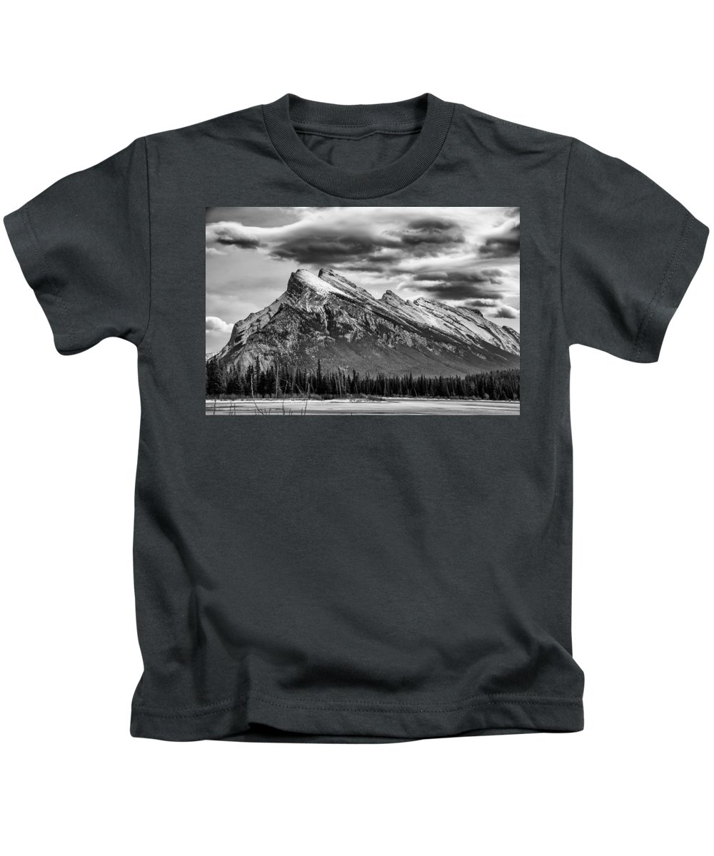 Alberta Kids T-Shirt featuring the photograph Alberta Rockies by Guy Whiteley