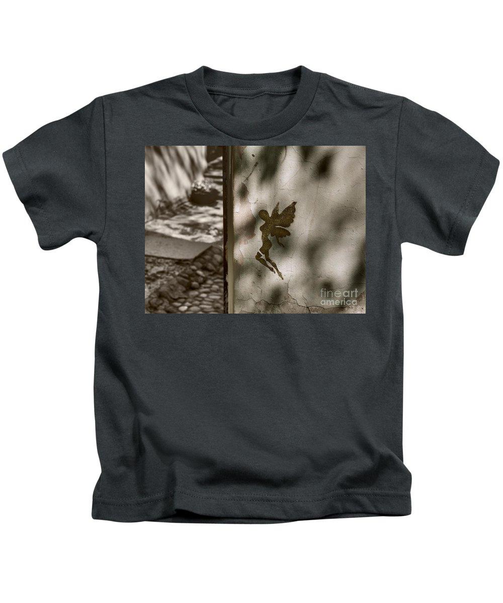 Angel Kids T-Shirt featuring the photograph Angel Of Tallinn by Ari Salmela