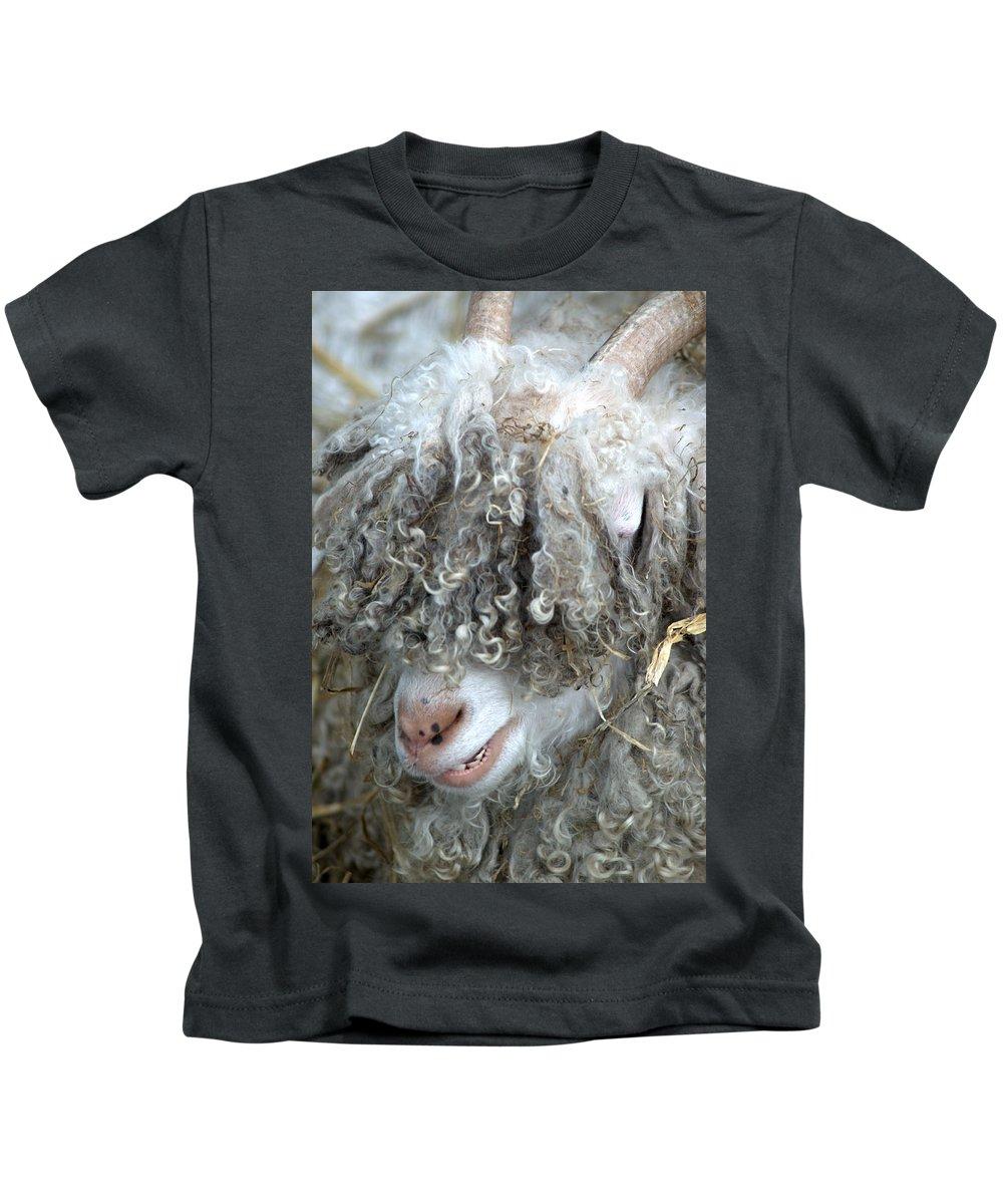 Angora Kids T-Shirt featuring the photograph Angora Goat by Chris Day
