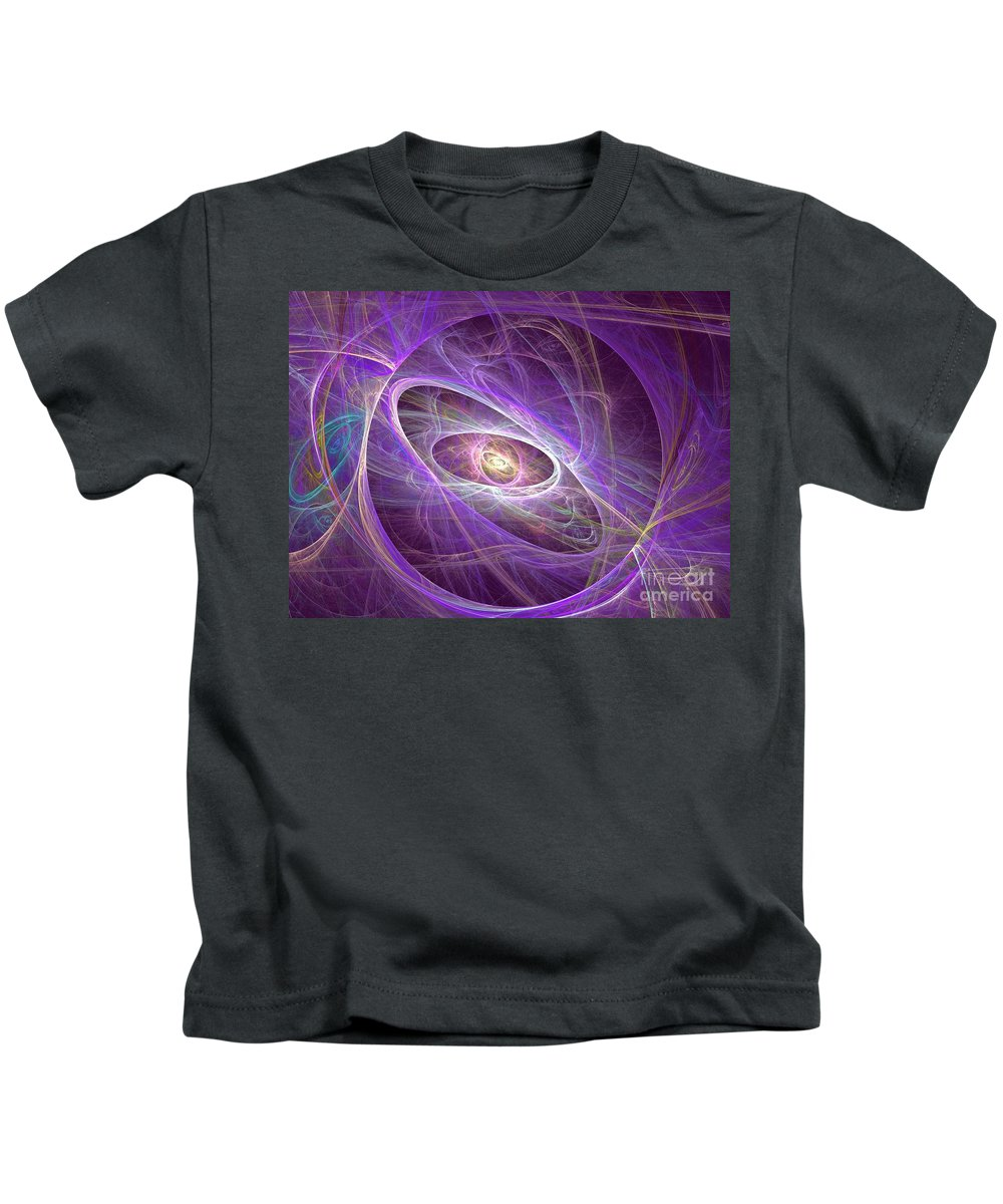 Apophysis Kids T-Shirt featuring the digital art Ara by Kim Sy Ok