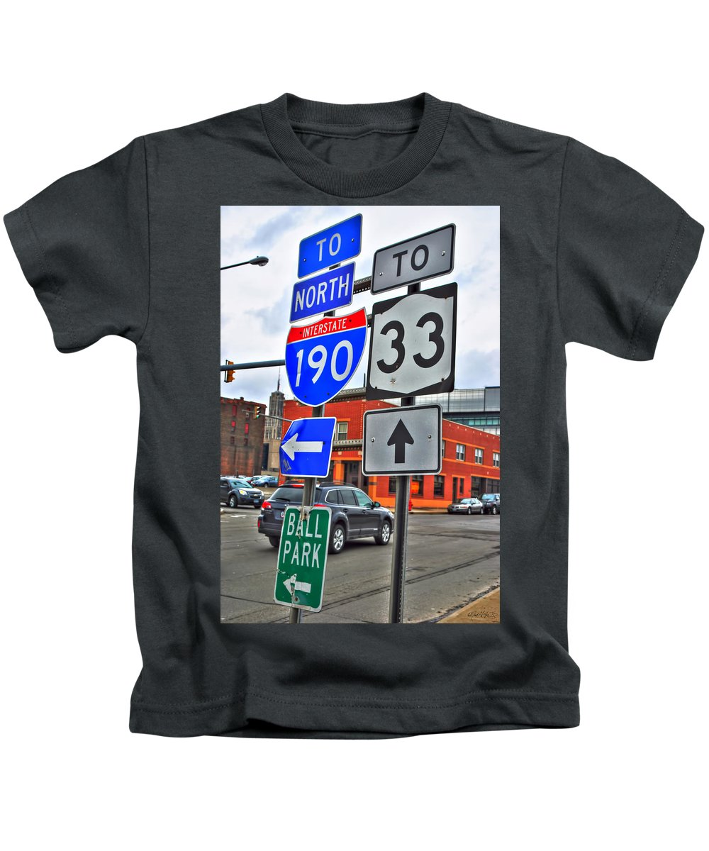 Kids T-Shirt featuring the photograph Are We There Yet by Michael Frank Jr