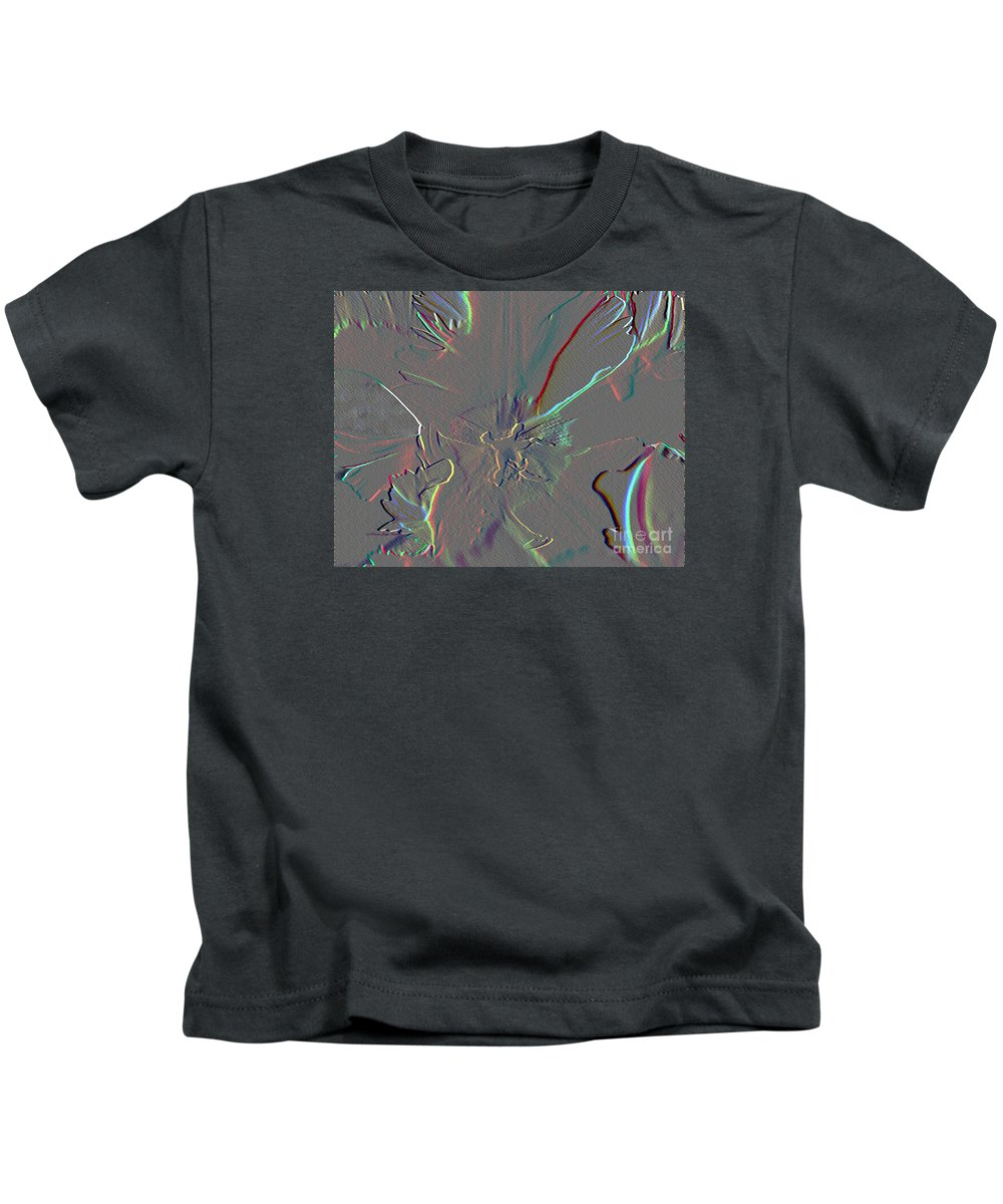 Mixed Media Kids T-Shirt featuring the mixed media At The Center Of It All by Patricia Griffin Brett
