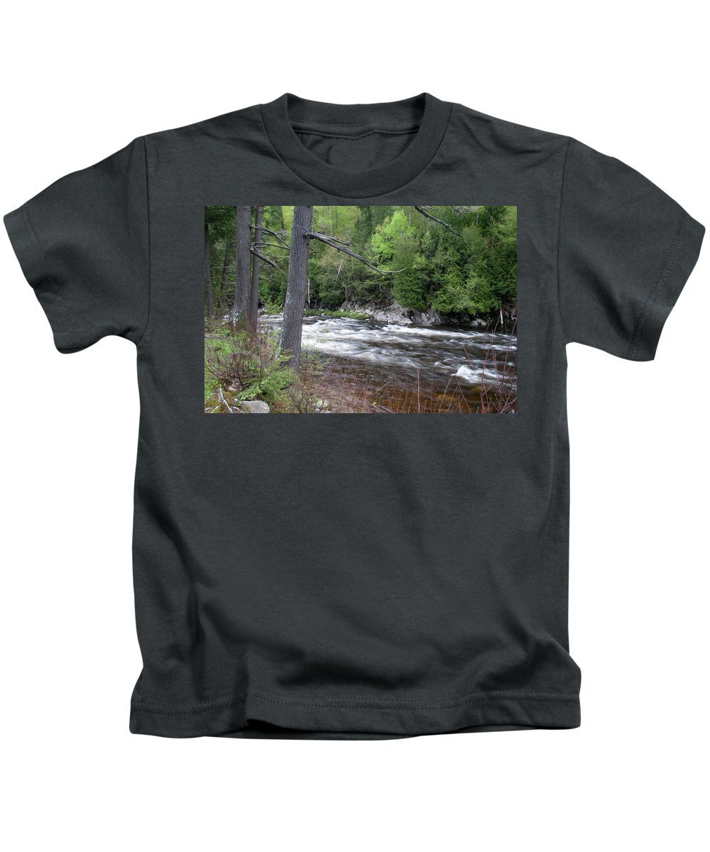 Flowing Water Kids T-Shirt featuring the photograph Ausable River 5252 by Guy Whiteley