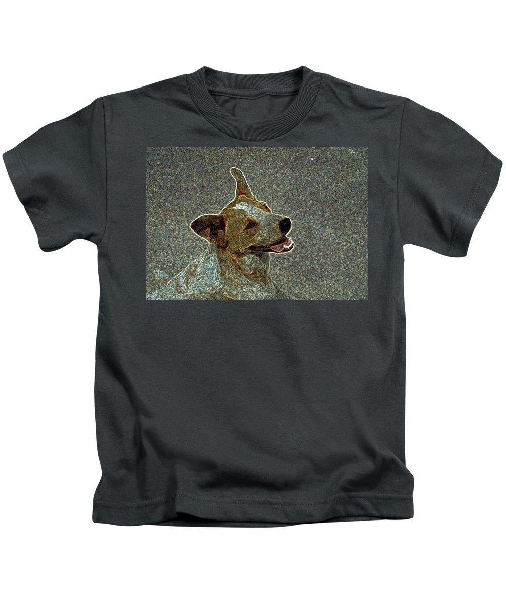 Austalian Cattle Dog Kids T-Shirt featuring the photograph Australian Cattle Dog Mix by One Rude Dawg Orcutt