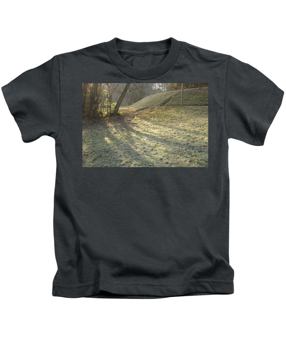 Autumn Kids T-Shirt featuring the photograph Autumn In Bled by Ian Middleton
