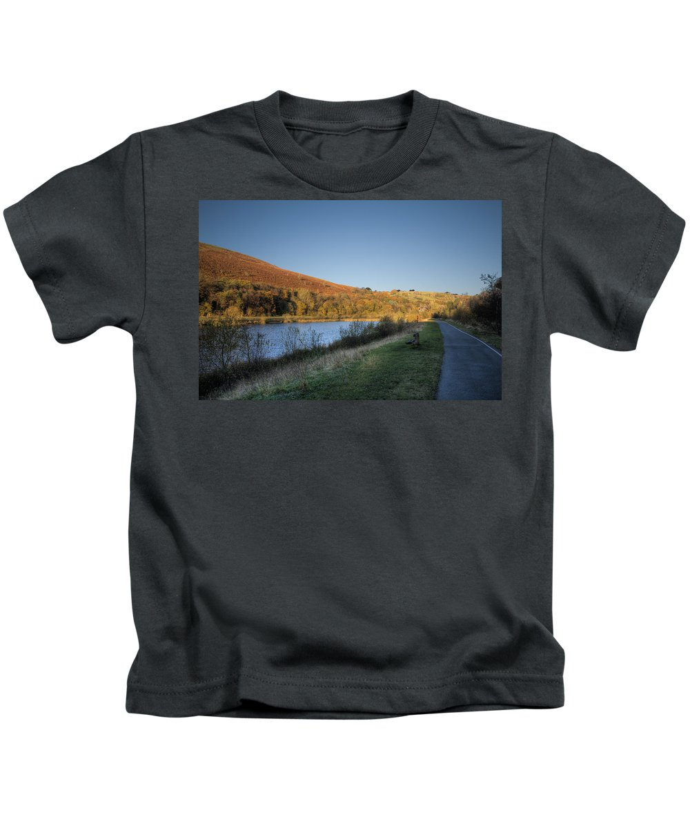 Autumn Pond Kids T-Shirt featuring the photograph Autumn Pond 4 by Steve Purnell