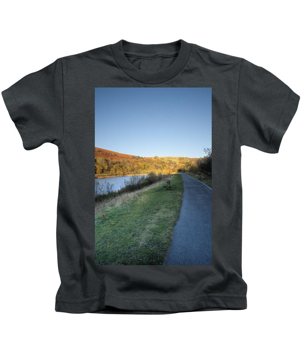 Autumn Pond Kids T-Shirt featuring the photograph Autumn Pond 5 by Steve Purnell