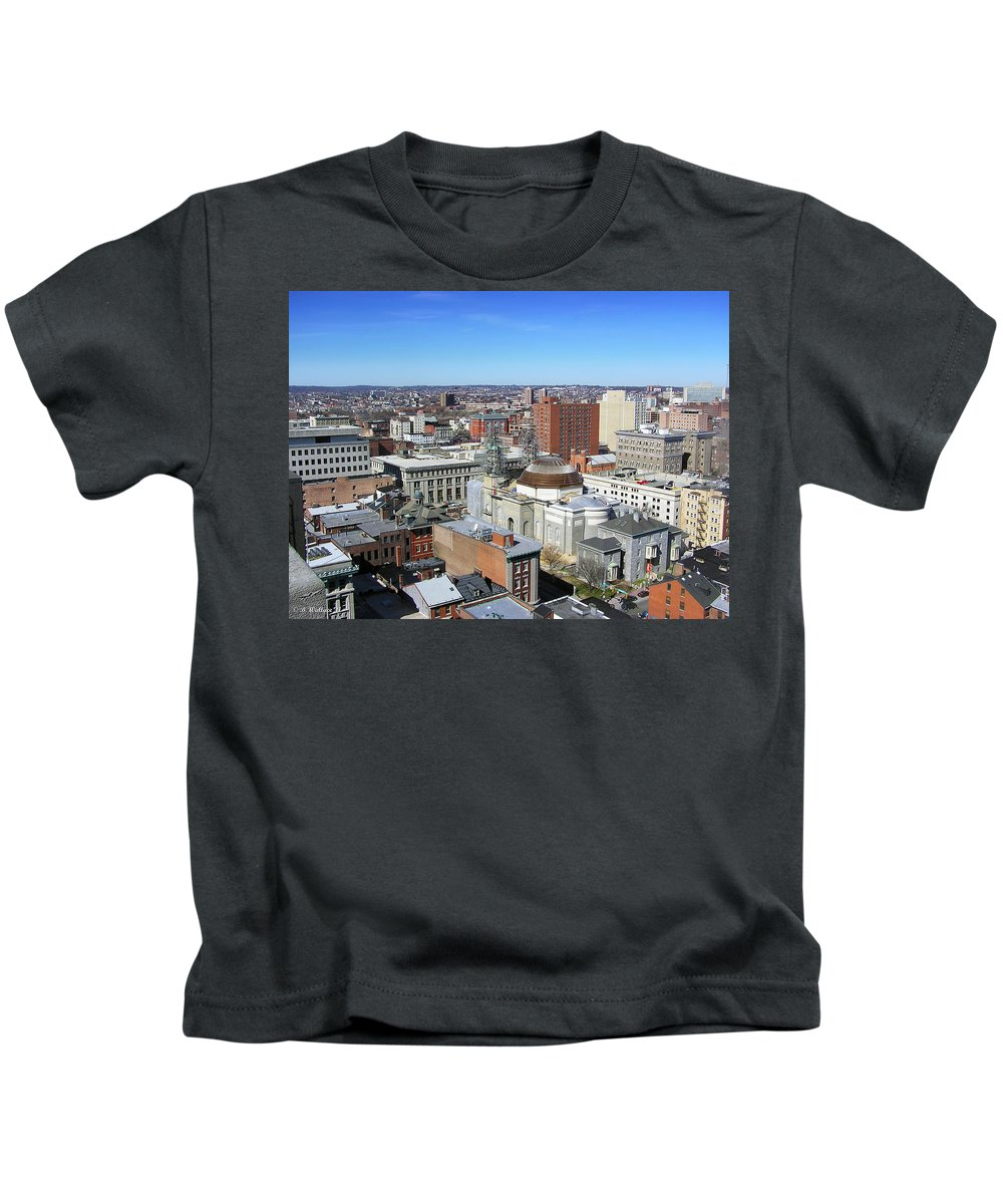 Brian Wallace Kids T-Shirt featuring the photograph Baltimore Nw by Brian Wallace
