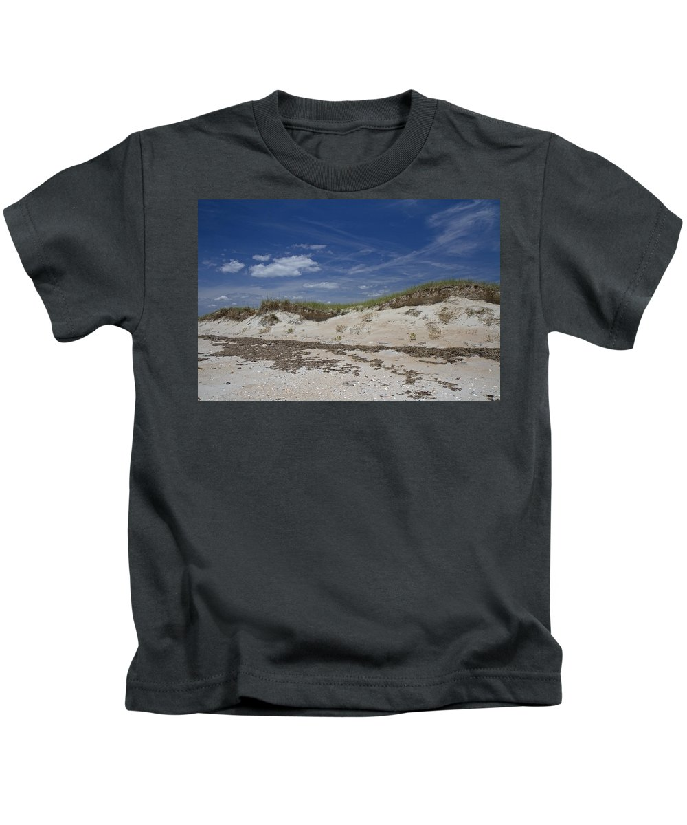 Shackleford Kids T-Shirt featuring the photograph Beach Dunes by Betsy Knapp