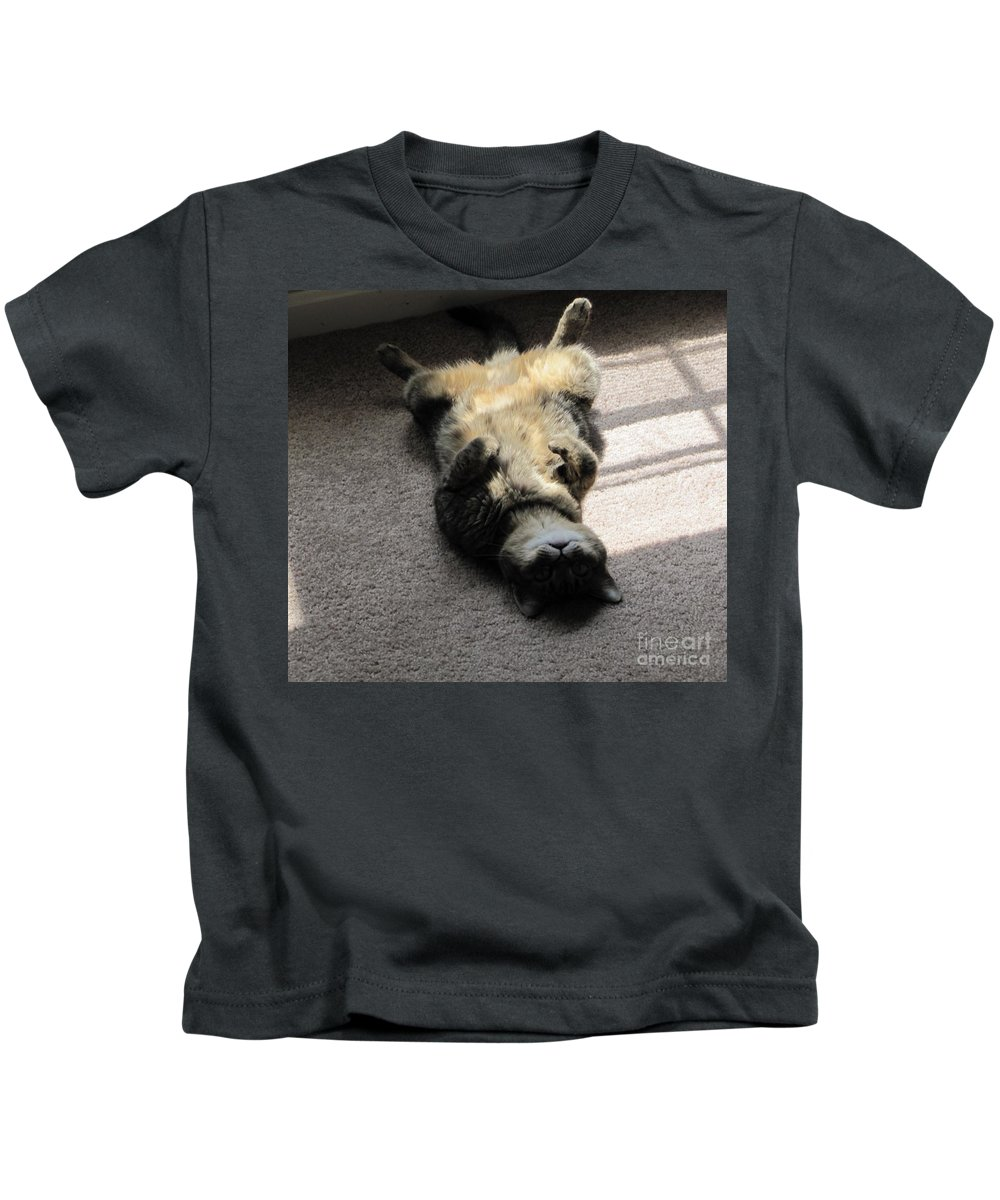 Belly Kids T-Shirt featuring the photograph Belly Up by Michelle Powell
