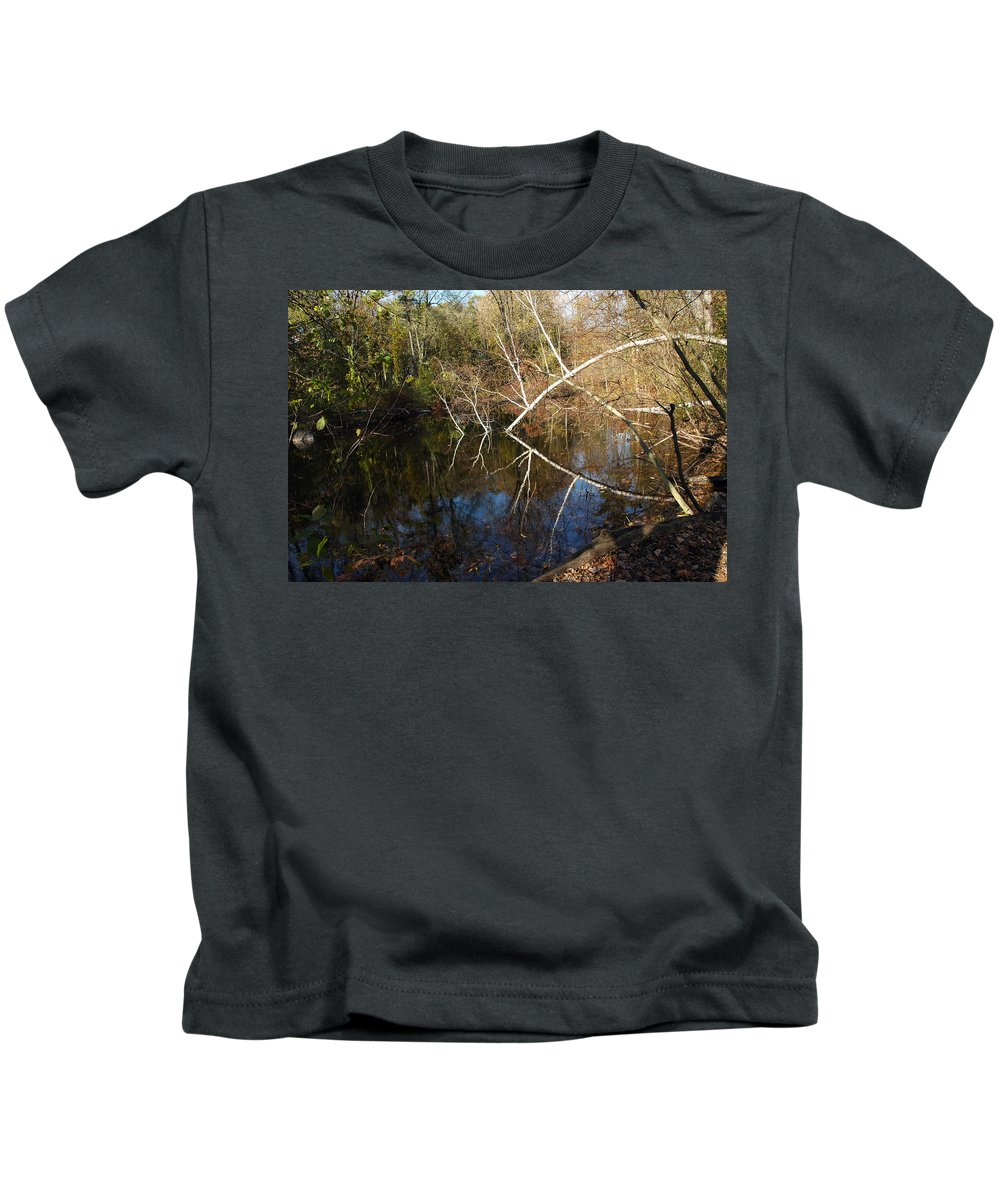 Usa Kids T-Shirt featuring the photograph Birch Eye by LeeAnn McLaneGoetz McLaneGoetzStudioLLCcom