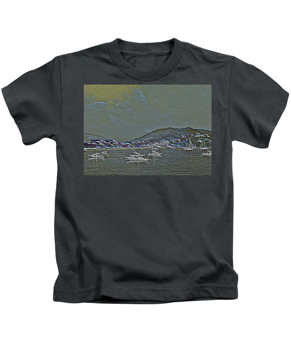 Boats Kids T-Shirt featuring the photograph Boats by Pamela Cooper