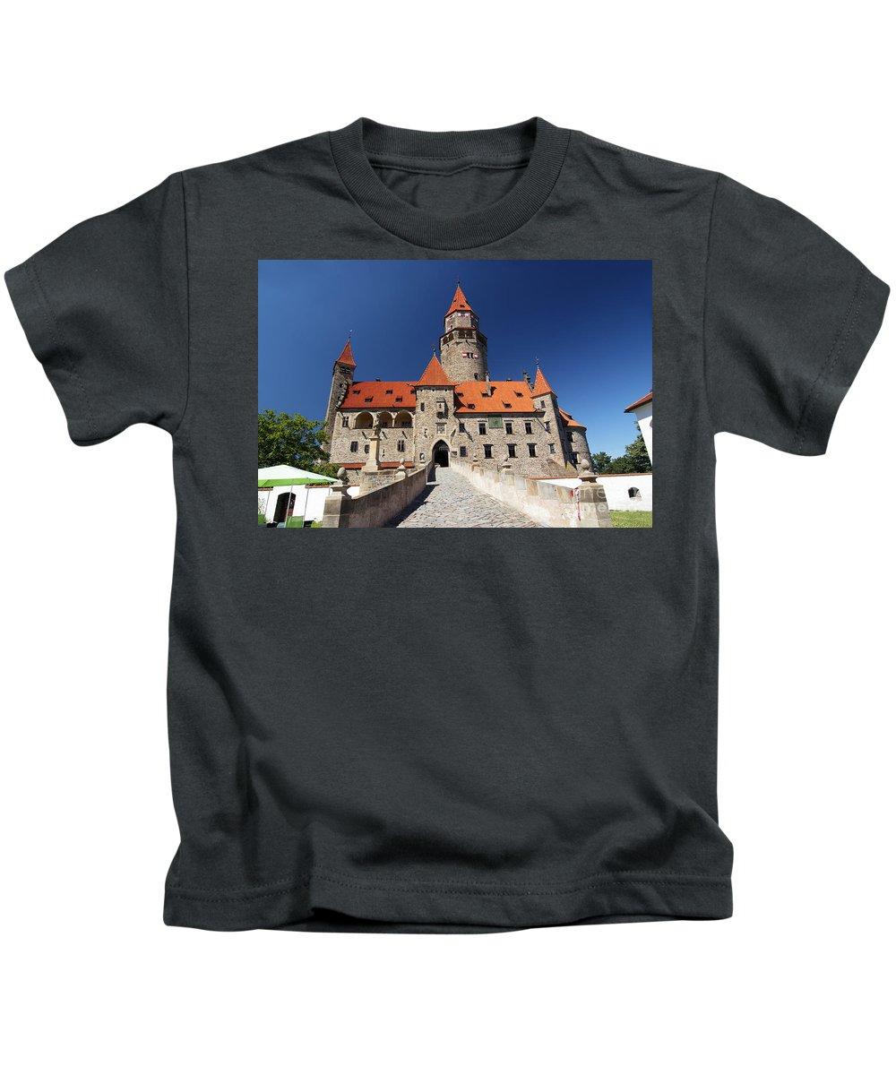 Bouzov Kids T-Shirt featuring the photograph Bouzov Castle by Michal Boubin