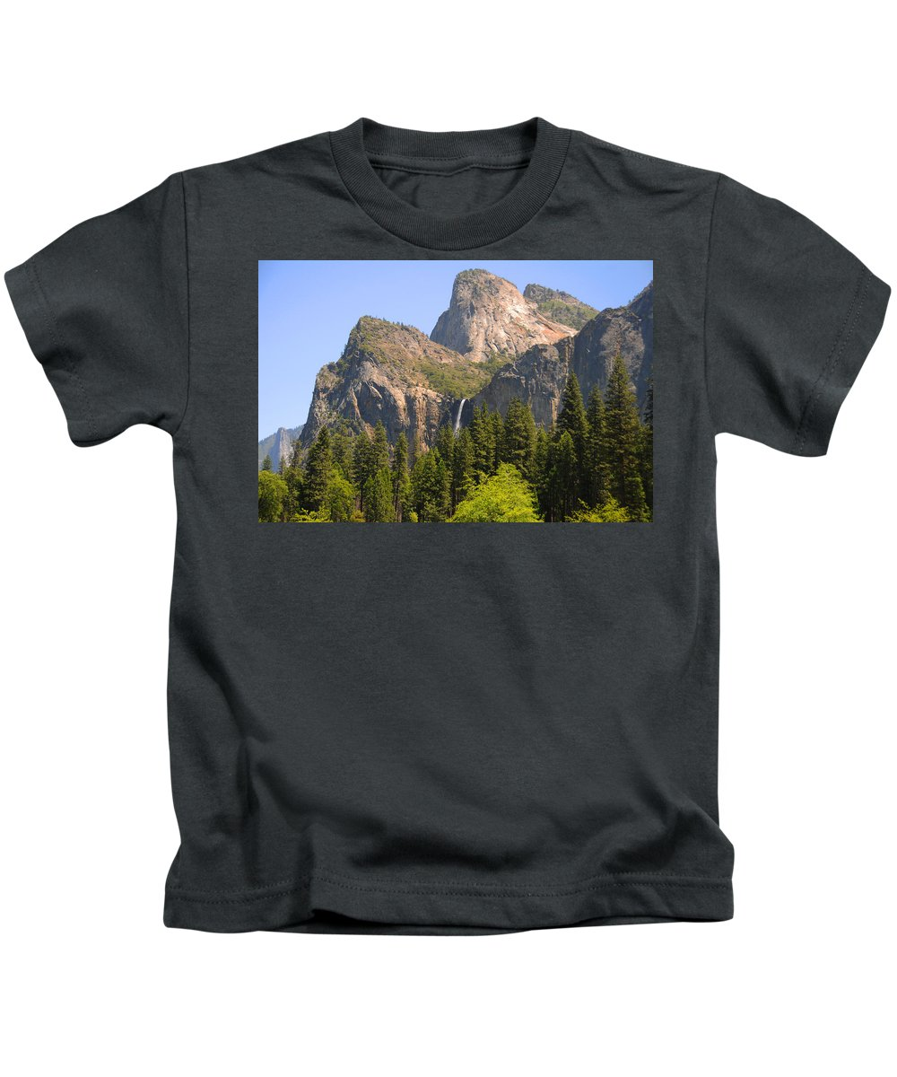 Yosemite Kids T-Shirt featuring the photograph Bridalveil Falls by Lynn Bauer