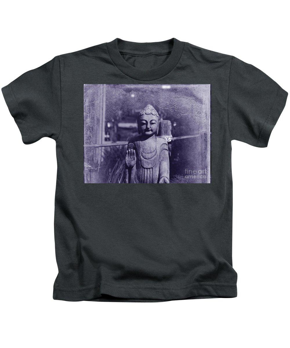 Buddha Kids T-Shirt featuring the photograph Buddhas Words by Susanne Van Hulst