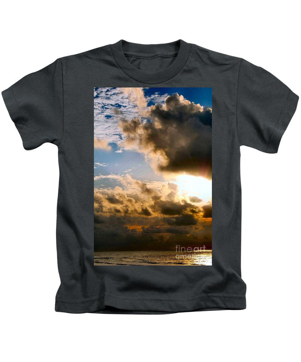 Ocean Kids T-Shirt featuring the photograph Calm Before The Storm by Anjanette Douglas