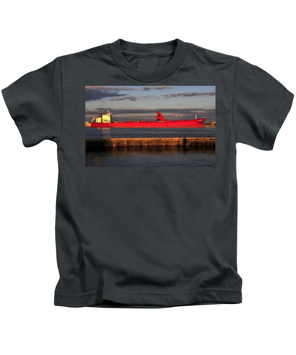 Fine Art Photography Kids T-Shirt featuring the photograph Captain Eo by David Lee Thompson