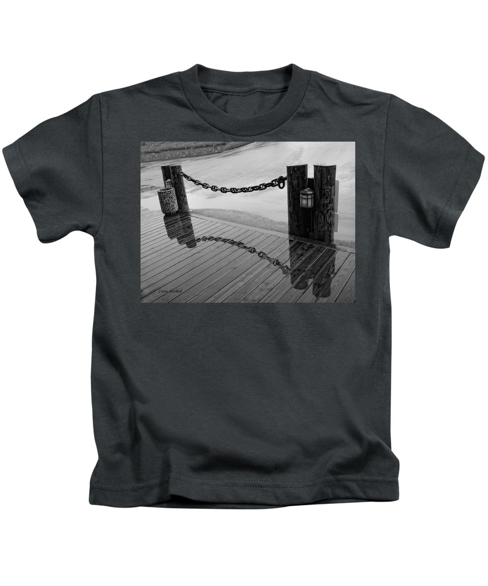 Chain Kids T-Shirt featuring the photograph Chained Together by Donna Blackhall