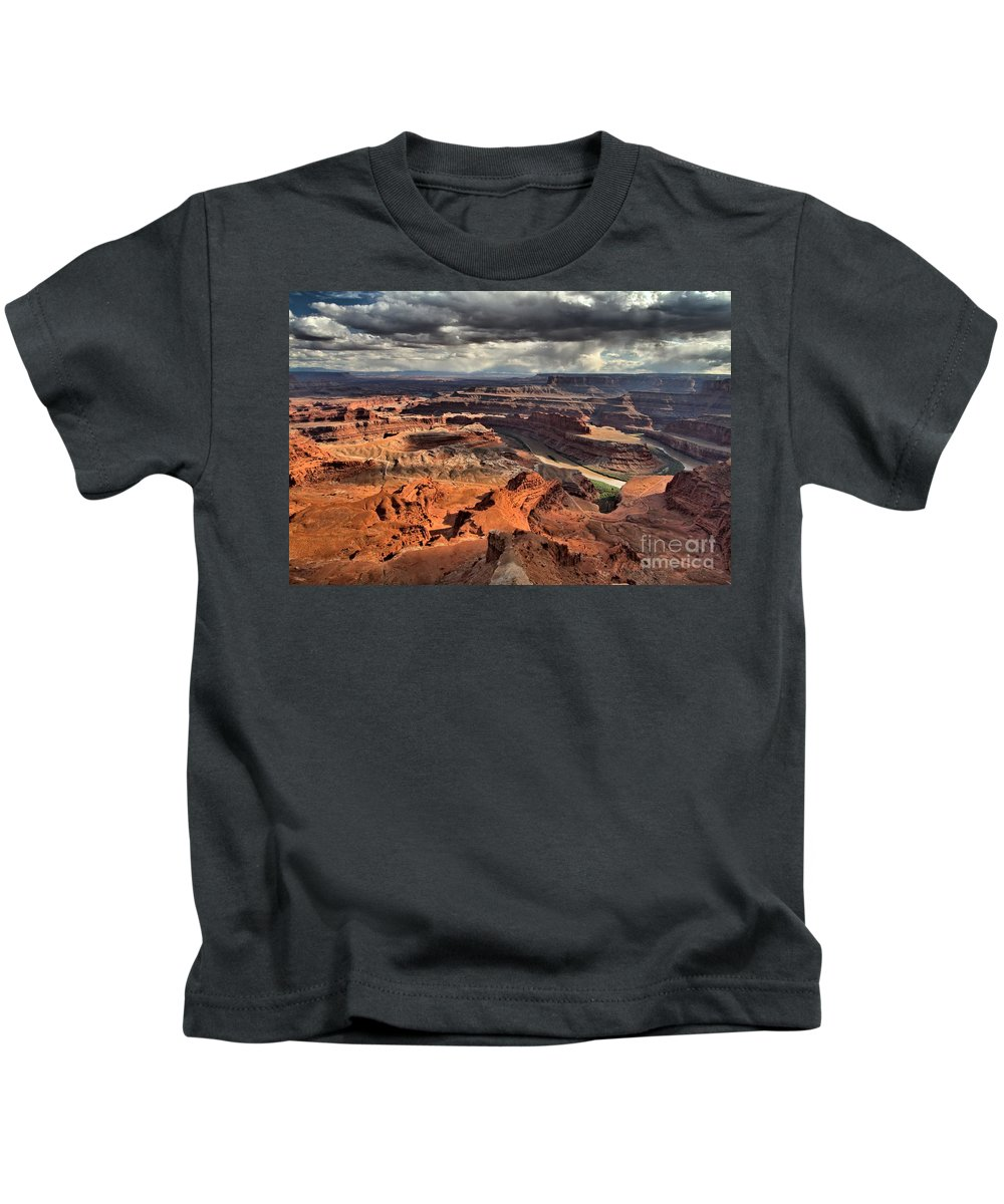 Dead Horse Point Kids T-Shirt featuring the photograph Colorado In The Canyons by Adam Jewell