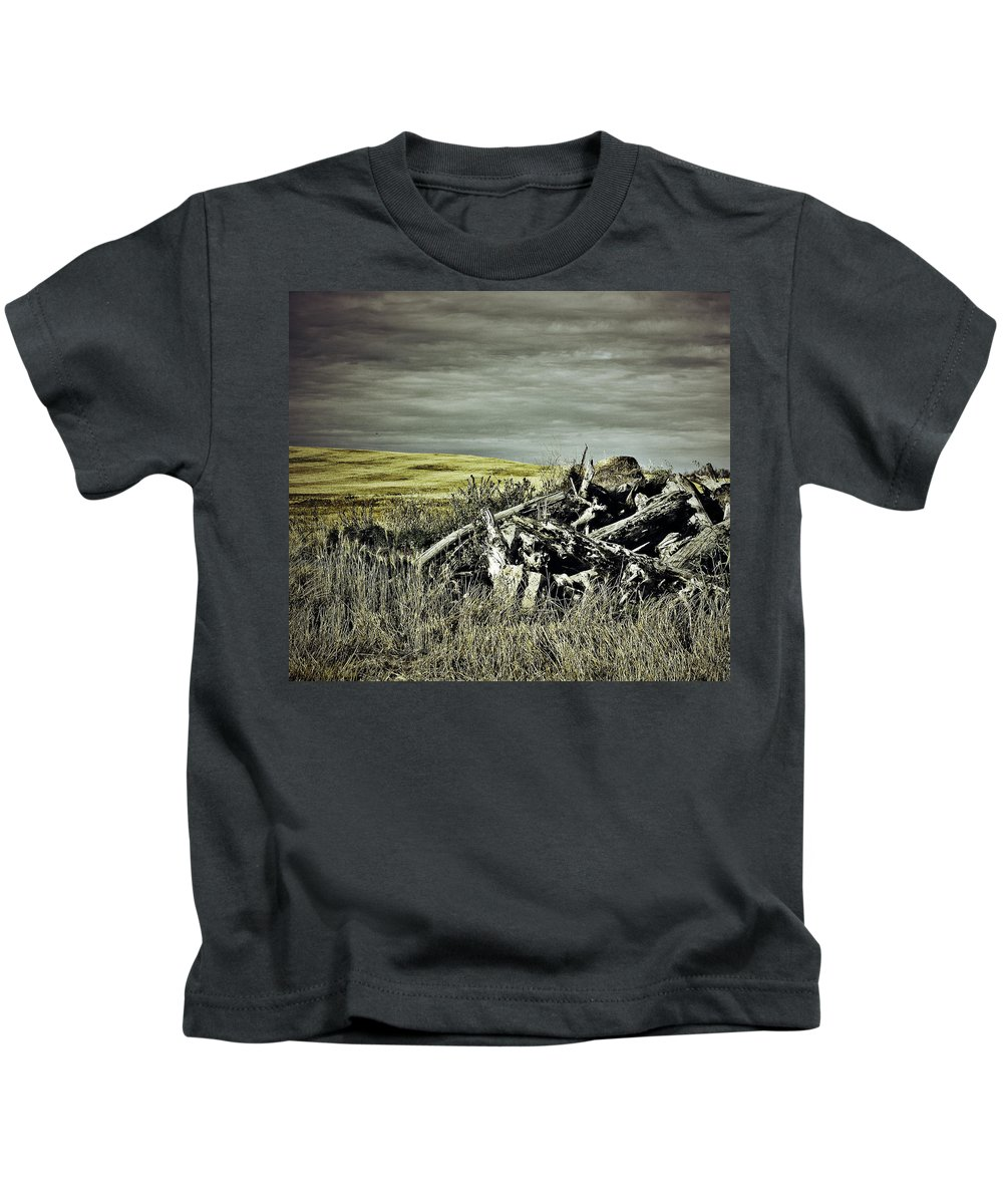 Street Photographer Kids T-Shirt featuring the photograph Controlled Burn by The Artist Project