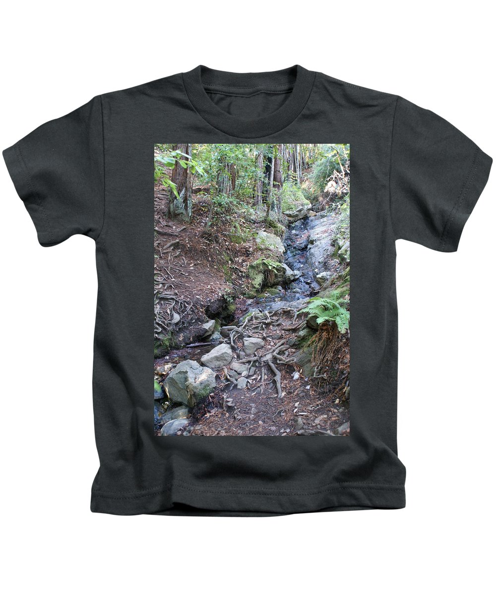 Creek On Mt Tam Kids T-Shirt featuring the photograph Corte Madera Creek On Mt Tamalpais by Ben Upham III