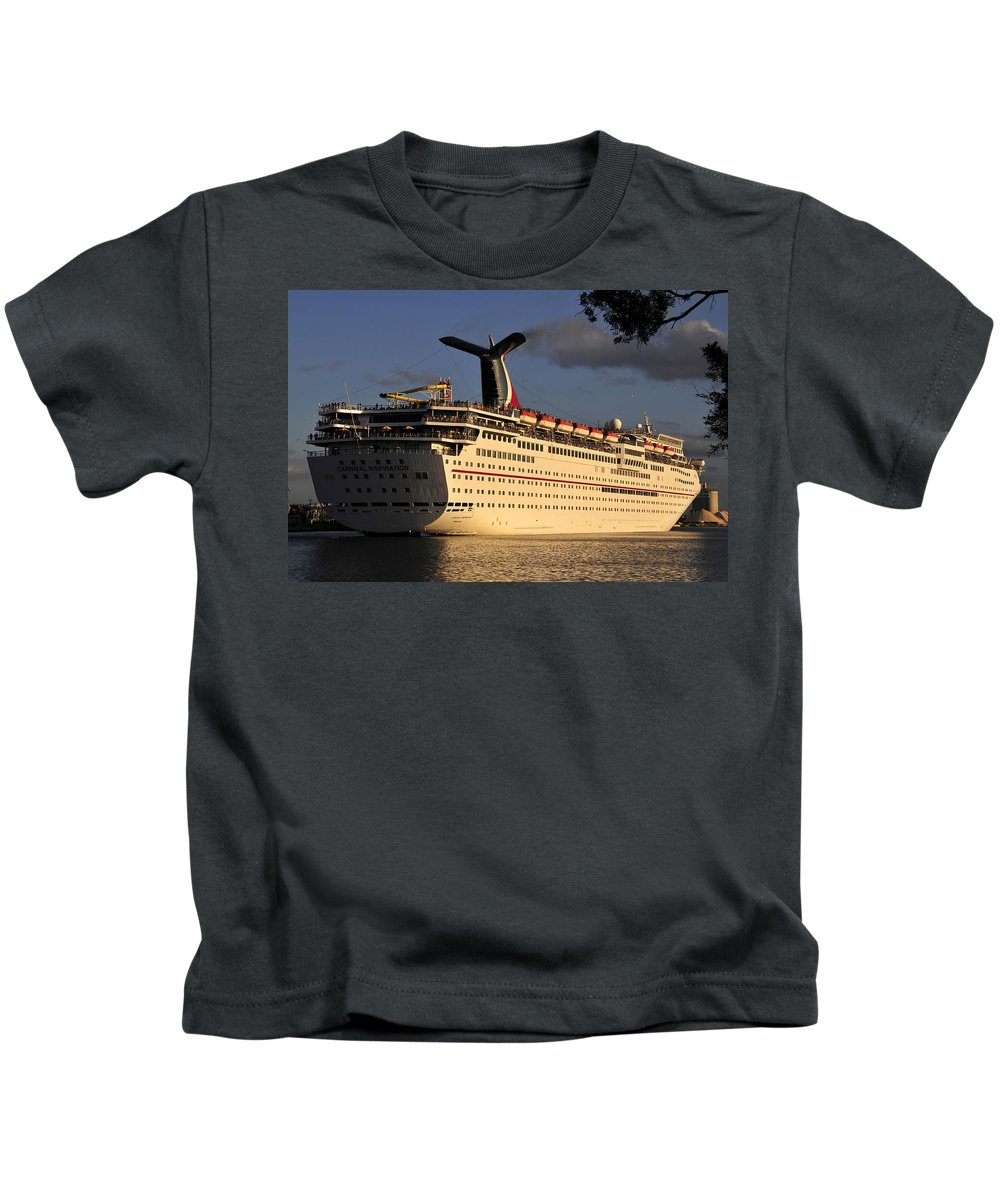 Fine Art Photography Kids T-Shirt featuring the photograph Cruising Away by David Lee Thompson