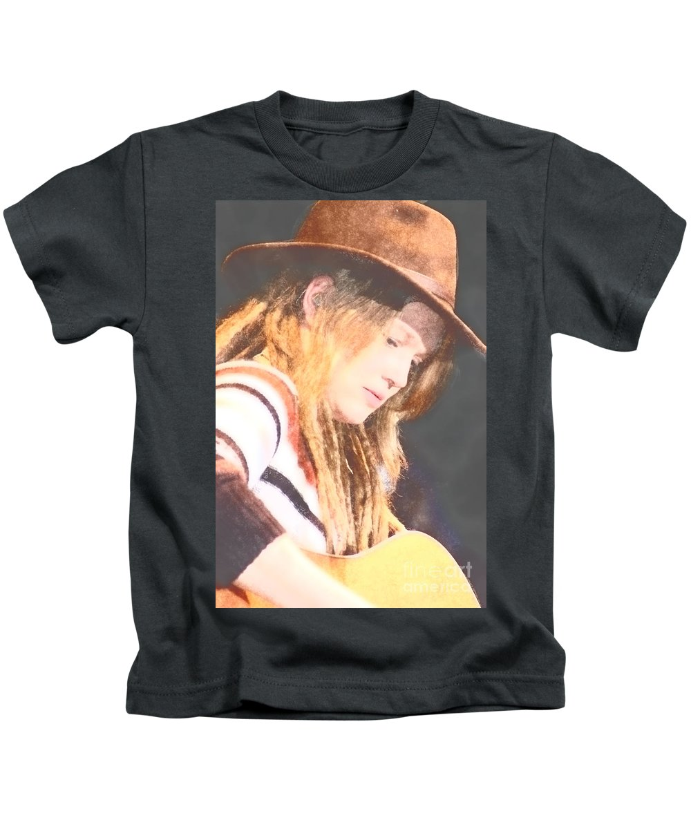 Kids T-Shirt featuring the photograph Crystal Bowersox by Donna Bentley